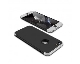 Husa 360 Grade Mixon Protection iPhone 5 5S 5SE Negru Silver