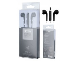 Casti In Ear Handsfree Oneplus 1,2m Cu Volum Pe Fir Si Microfon Negre