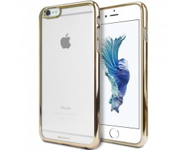Husa Spate Goospery Ring 2 iPhone 6 - 6s Transparent Gold