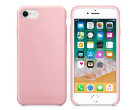Husa Silicon Apple Style Fara Logo iPhone 7/8 Interior Alcantara Pink