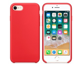 Husa Silicon Apple Style Fara Logo iPhone 7/8 Interior Alcantara Red