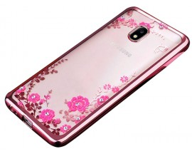 Husa Spate Flower Diamond Samsung J5 2016 Rose Gold Silicon
