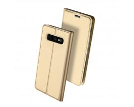 Husa Flip Cover Premium Duxducis Skinpro Samsung S10e Gold