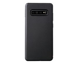 Husa Spate Upzz Carbon Fiber Samsung Galaxy S10e Neagra