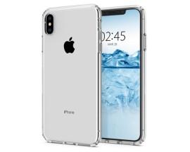 Husa Premium Originala Spigen Liquid Crystal iPhone XS Silicon Trasparent