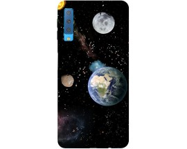 Husa Silicon Soft Upzz Print Samsung Galaxy A7 2018 Model Earth