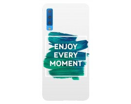 Husa Silicon Soft Upzz Print Samsung Galaxy A7 2018 Model Enjoy