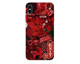 Husa Silicon Soft Upzz Print iPhone Xs Max Model Enjoy