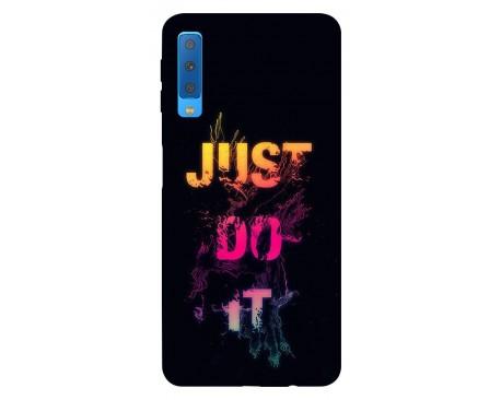Husa Silicon Soft Upzz Print Samsung Galaxy A7 2018 Model Jdi