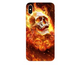 Husa Silicon Soft Upzz Print iPhone Xs Max Model Exit