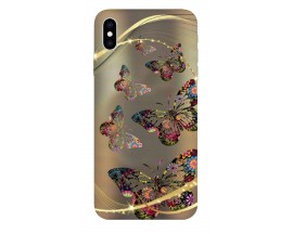 Husa Silicon Soft Upzz Print iPhone Xs Max Model Flame Skull
