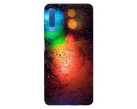 Husa Silicon Soft Upzz Print Samsung Galaxy A7 2018 Model Multicolor