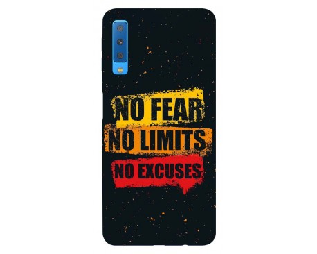 Husa Silicon Soft Upzz Print Samsung Galaxy A7 2018 Model No Fear
