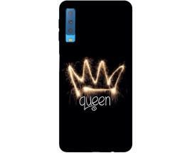 Husa Silicon Soft Upzz Print Samsung Galaxy A7 2018 Model Queen