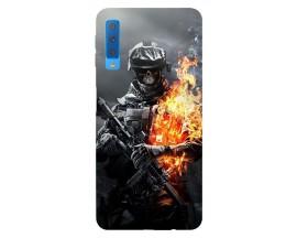 Husa Silicon Soft Upzz Print Samsung Galaxy A7 2018 Model Soldier