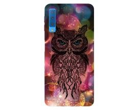 Husa Silicon Soft Upzz Print Samsung Galaxy A7 2018 Model Sparkle Owl