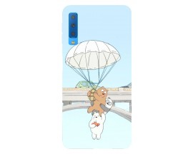 Husa Silicon Soft Upzz Print Samsung Galaxy A7 2018 Model Three Bears