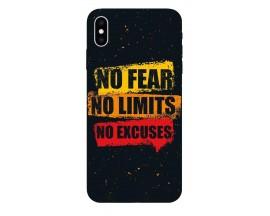 Husa Silicon Soft Upzz Print iPhone Xs Max Model No Fear
