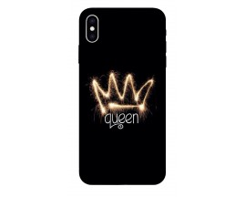 Husa Silicon Soft Upzz Print iPhone Xs Max Model Queen