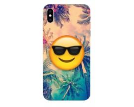 Husa Silicon Soft Upzz Print iPhone Xs Max Model Smile