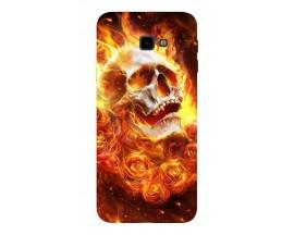 Husa Silicon Soft Upzz Print Samsung J4+ Plus 2018 Model Flame Skull
