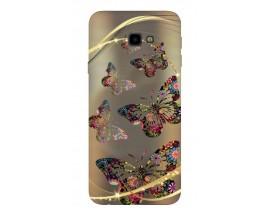 Husa Silicon Soft Upzz Print Samsung J4+ Plus 2018 Model Golden Buterflyes