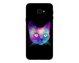 Husa Silicon Soft Upzz Print Samsung J4+ Plus 2018 Model Neon Cat