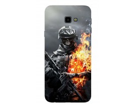 Husa Silicon Soft Upzz Print Samsung J4+ Plus 2018 Model Soldier