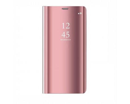 Husa Tip Carte Mirror Samsung Galaxy S10 Rose Gold