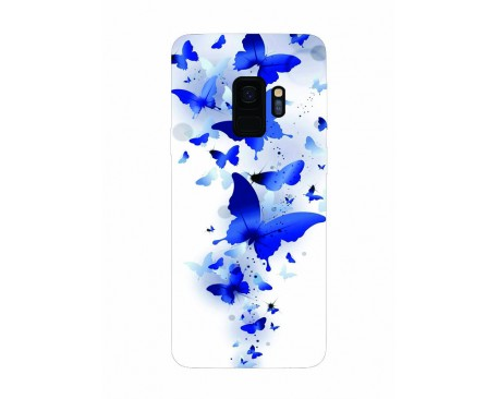 Husa Silicon Soft Upzz Print Samsung Galaxy S9 Model Blue Butterflys