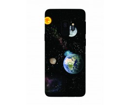 Husa Silicon Soft Upzz Print Samsung Galaxy S9 Model Earth