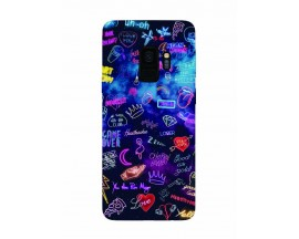 Husa Silicon Soft Upzz Print Samsung Galaxy S9 Model Neon