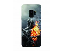 Husa Silicon Soft Upzz Print Samsung Galaxy S9 Model Soldier