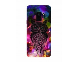 Husa Silicon Soft Upzz Print Samsung Galaxy S9 Model Sparkle Owl