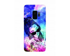 Husa Silicon Soft Upzz Print Samsung Galaxy S9 Model Univers Girl