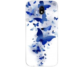 Husa Silicon Soft Upzz Print Samsung Galaxy J5 2017 Model Blue Butterflyes