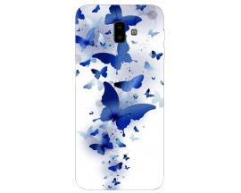 Husa Silicon Soft Upzz Print Samsung J6+ Plus 2018 Model Blue Butterflies