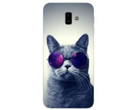 Husa Silicon Soft Upzz Print Samsung J6+ Plus 2018 Model Cool Cat