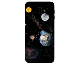 Husa Silicon Soft Upzz Print Samsung J6+ Plus 2018 Model Earth