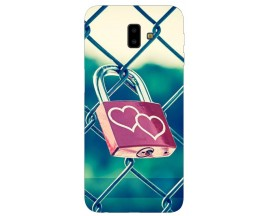 Husa Silicon Soft Upzz Print Samsung J6+ Plus 2018 Model Heart Lock