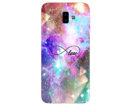 Husa Silicon Soft Upzz Print Samsung J6+ Plus 2018 Model Neon Love