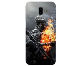 Husa Silicon Soft Upzz Print Samsung J6+ Plus 2018 Soldier