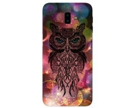 Husa Silicon Soft Upzz Print Samsung J6+ Plus 2018 Sparkle Owl