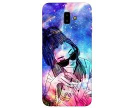 Husa Silicon Soft Upzz Print Samsung J6+ Plus 2018 Universe Girl