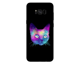 Husa Silicon Soft Upzz Print Samsung S8+ Plus Neon Cat