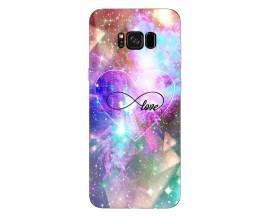 Husa Silicon Soft Upzz Print Samsung S8+ Plus Neon Love