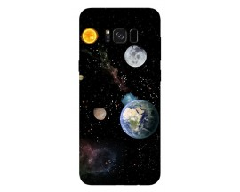 Husa Silicon Soft Upzz Print Samsung Galaxy S8 Model Earth