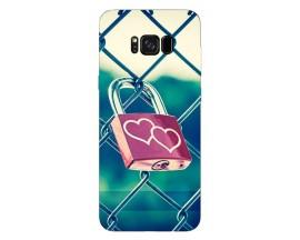 Husa Silicon Soft Upzz Print Samsung Galaxy S8 Model Heart Lock