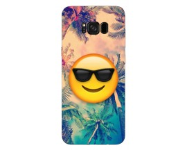Husa Silicon Soft Upzz Print Samsung Galaxy S8 Model Smille