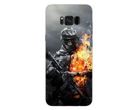 Husa Silicon Soft Upzz Print Samsung Galaxy S8 Model Soldier